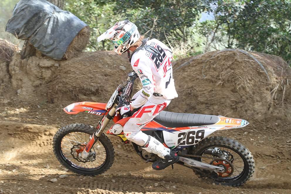 Orso Maria Donnini (MC La Rocca Asd - Ktm 250 4T) in azione a Montevarchi