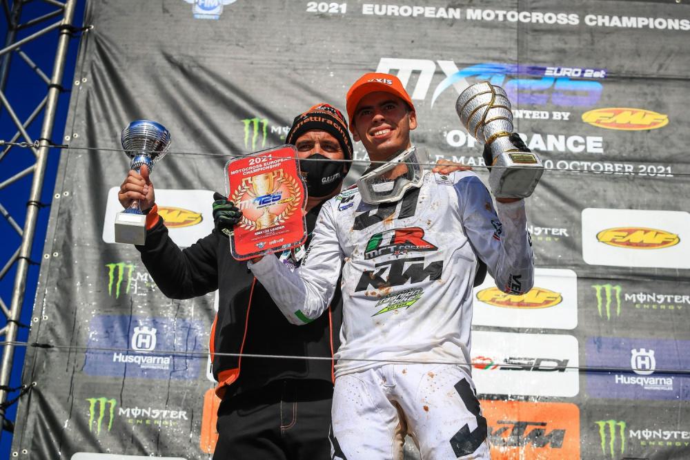 Valerio Lata vince l'Europeo MX 125 in Francia